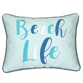Macleay Island Pale Blue Embroidered Pillow Multi Cool Rectangle