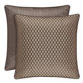 Astoria Patterned Piped Sham Coffee European