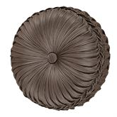 Astoria Pleated Tufted Pillow Coffee Round