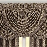 Astoria Scrolling Waterfall Valance Coffee 42 x 33