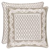 Bel Air Almond Reversible Framed Piped Pillow 20 Square