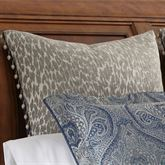 Preston Ball Tassel Leopard Design Sham Gray European