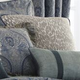 Preston Leopard Design Corded Pillow Gray 20 Square