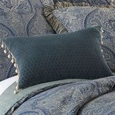 Preston Ball Tassel Pillow Denim Rectangle