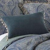 Preston Ball Tassel Pillow Denim Rectangle