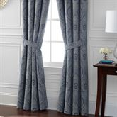 Preston Wide Tailored Curtain Pair Federal Blue 100 x 84
