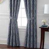 Preston Wide Tailored Curtain Pair Federal Blue 100 x 84
