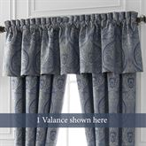 Preston Tailored Valance Federal Blue 80 x 17