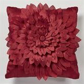 Poinsettia Palace Tailored Pillow 18 Square