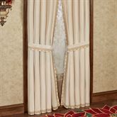 Poinsettia Palace Tailored Curtain Pair Champagne 84 x 84
