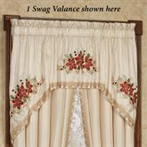 Poinsettia Palace Swag Window Valance Champagne 72 x 38