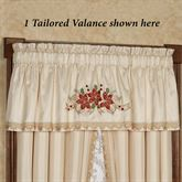 Poinsettia Palace Tailored Window Valance Champagne 72 x 18