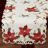 Poinsettia Palace Table Runner Light Cream