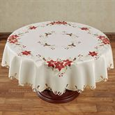 Poinsettia Palace Round Tablecloth Champagne 70 Diameter