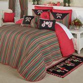 Peppermint Dreams Grande Bedspread Red