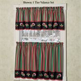 Peppermint Dreams Tier and Valance Set Red