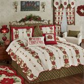 Holiday Traditions Coverlet Set Light Cream