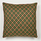 Holiday Traditions Plaid Quilted Sham Green European
