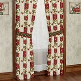 Holiday Traditions Tailored Curtain Pair Light Cream 84 x 84