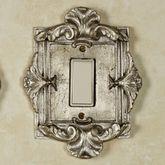 Florentine Single Dimmer Rocker Switch Silver Shimmer