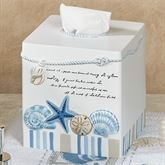 Island View Tissue Cover Blue