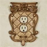 Corinthian Single Outlet Aged Gold