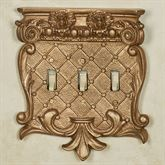 Corinthian Triple Switch Aged Gold