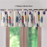 Dream Catcher Tab Top Valance Off White 84 x 21