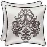 Chancellor Embroidered Pillow Silver 18 Square