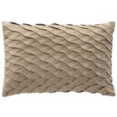 Madrid Pleated Pillow Antique Gold Rectangle
