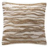 Madrid Beaded Pillow Antique Gold 14 Square