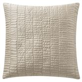 Madrid Quilted Pillow Light Gold 18 Square