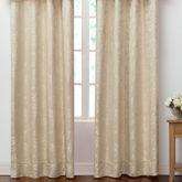 Emilia Wide Tailored Curtain Pair Straw 100 x 84