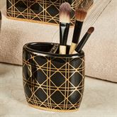 Beauty Brush Holder Black