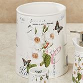 Botanical Diary Wastebasket Off White