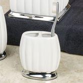 Sleek Brush Holder Off White