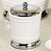Isabella Covered Jar Off White
