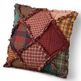 Campfire Patchwork Pillow Multi Warm 14 Square