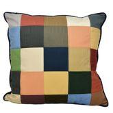 Sunset Cottage Pieced Blocks Pillow Multi Warm 18 Square