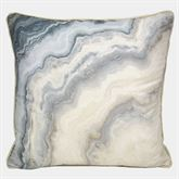 Windswept Watercolor Piped Pillow Ivory 18 Square