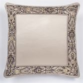 Landon European Pillow with Piped Sham Gold Beige