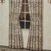 Landon Wide Tailored Curtain Pair Gold Beige 100 x 84
