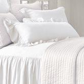 Luna Ruffled Jumbo Pillow White Rectangle