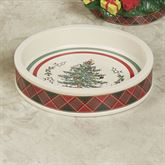 Spode Christmas Tartan Plaid Soap Dish Red