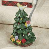 Spode Christmas Tartan Plaid Toothbrush Holder Green