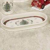 Spode Christmas Tartan Plaid Tray Red