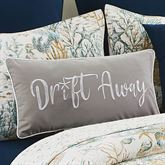 Cerulean Shores Embroidered Pillow Gray Rectangle