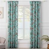 Audrey Tailored Curtain Pair Turquoise 84 x 84