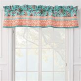 Audrey Tailored Valance Turquoise 84 x 16
