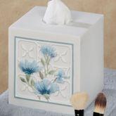 Garden View Tissue Cover Blue
